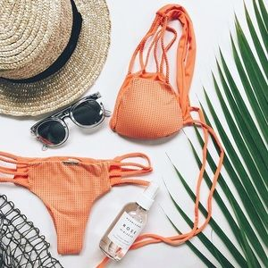 San Lorenzo Orange Mesh Bikini